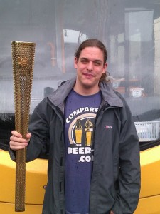 Me and the Olympic Torch - London 2012